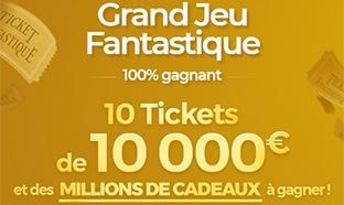 Grand Jeu Fantastique La Poste : 10 tickets de 10'000€ … à gagner