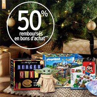 Intermarché Jouets de Noël : 50% offerts en bons d'achat