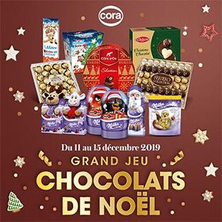 Jeu Cora.fr : 59 lots de chocolats (Kinder + Ferrero + Milka)
