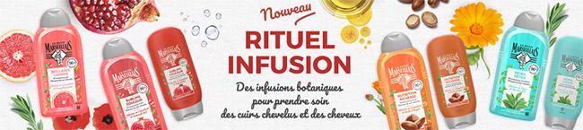 testez un shampooing et après-shampooing Rituel Infusion Le Petit Marseillais