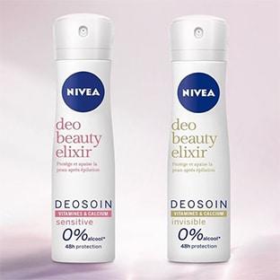 Test Nivea : 200 déodorants Beauty Elixir gratuits