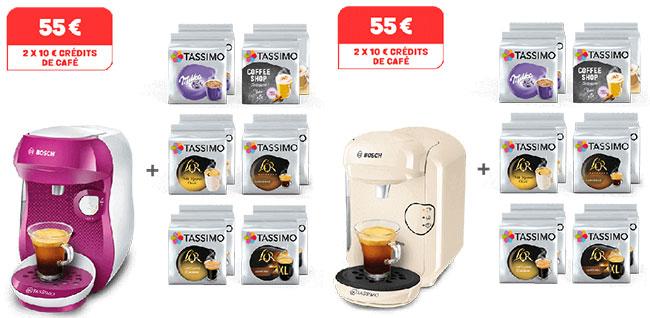 Assortiment de boissons Tassimo acheté = Machine offerte