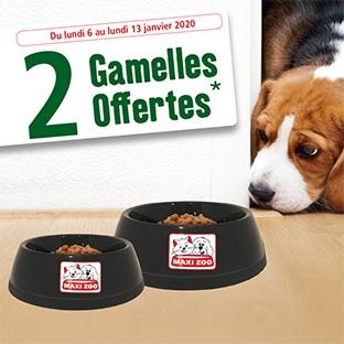 Bon plan cadeau : gamelles Maxi Zoo offertes