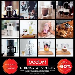 Vignettes Carrefour = produits Bodum pas cher