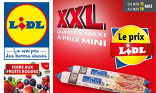 Catalogue Lidl « XXL » du 13 au 19 mai 2020