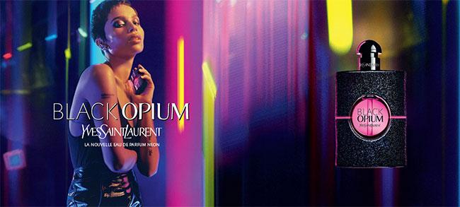 Recevez une dose d'essai de l'eau de parfum Neon Black Opium