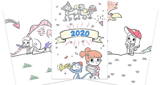 Imprimez gratuitement votre calendrier 2020 Hourra Héros