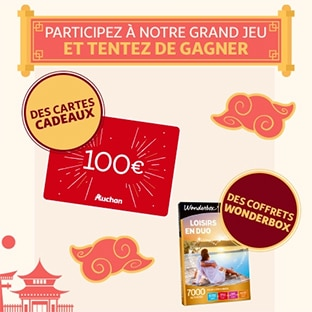 Jeu L'année du Rat Auchan : 40 cadeaux à gagner