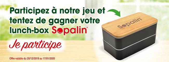 Tentez de remporter un lunch-box Sopalin