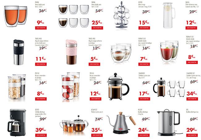 articles Bodum à petit prix chez Carrefour