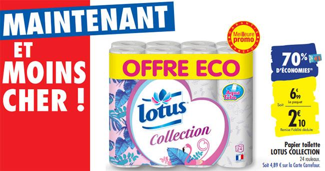 70% de remise fidélité rouleaux de papier toilette Lotus Collection