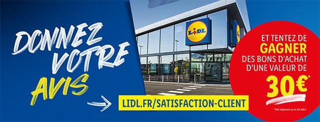 Tentez de remporter un coupon Lidl de 30€