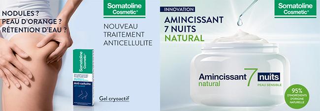 Testez gratuitement l'Amincissant ou l'Anticellulite Somatoline Cosmetic