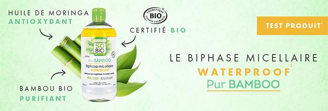 Testez gratuitement le biphase micellaire de SO'BiO étic