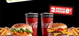 Super Deal Burger King : 2 menus pour 8€