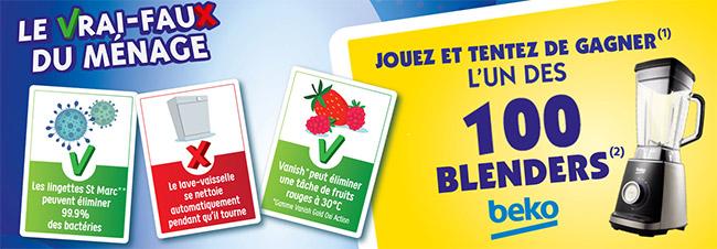 """Jeu """"Le vrai faux du ménage"""" de Carrefour Market"""