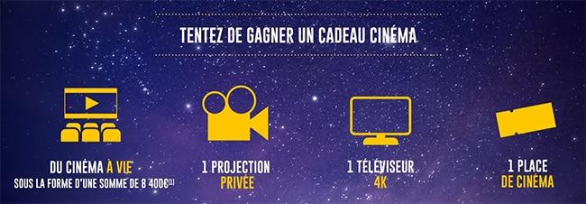 cadeaux du concours Code Ciné 2021 de McDonalds