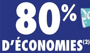 Promo Carrefour : 80% de remise fidélité sur une sélection