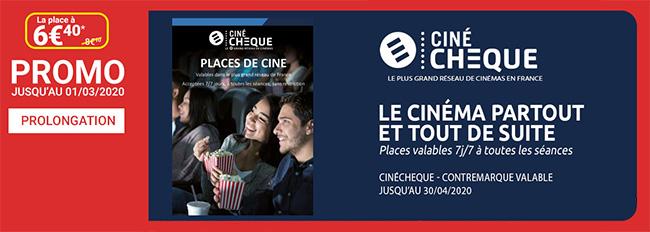 Obtenez votre E-CinéChèque à 6,40€ pour aller au cinéma à moindres frais