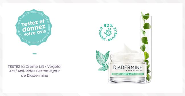 Testez la crème anti-age Lift Active de Diadermine avec Aufeminin