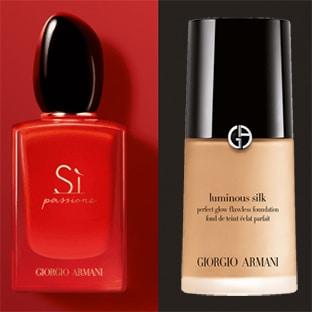 Échantillons Giorgio Armani : Parfum Sì Passione + fond de teint
