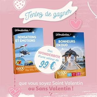 Jeu St Valentin Auchan : Wonderbox à gagner
