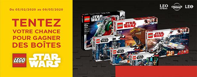 Tentez de remporter l'une des 18 boîtes de Lego Star Wars