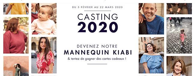 Tentez de remporter un cadeau au casting Kiabi 2020