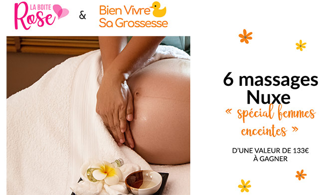 Tente zde remporter un massage pour femme enceinte avec La Boîte Rose et Bien Vivre Sa Grossesse