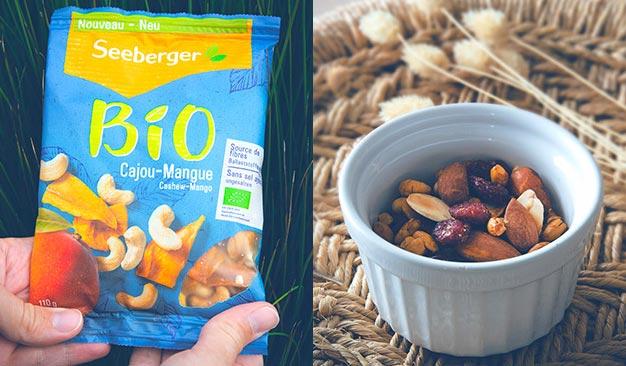 Tentez de déguster gratuitement les fruits secs et fruits à coques Bio Seeberger