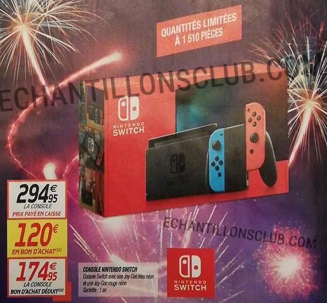 Offre de remboursement Nintendo Switch Netto en bons d'achat
