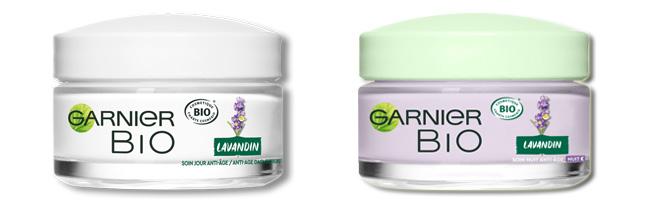 testez les soins de jour et de nuit Lavandin Garnier Bio