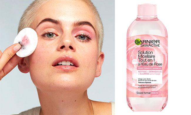 Tester gratuitement la solution micellaire à l'Eau de Rose Skin Active Garnier avec Sampleo
