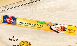 Test TRND : Papier cuisson anti-glisse Albal gratuit
