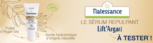 testez le Sérum Repulpant Lift'Argan de Natessance avec Léa Nature