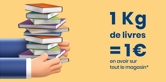 Obtenez jusqu'à 5€ en avoir Cultura en rapportant vos livres