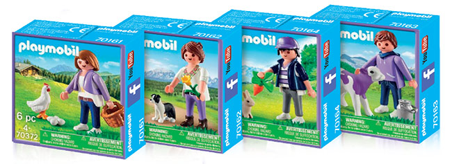 Les boîtes Playmobil Milka offertes