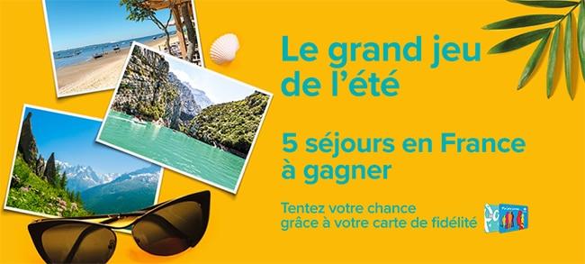 Tentez de gagner des séjours avec vos achats chez Carrefour