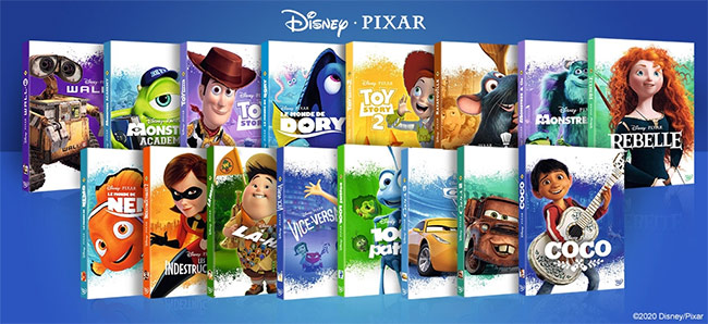 Les DVD Disney-Pixar à gagner