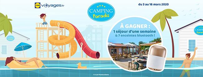 gagnez un séjour à Camping Paradis ou une enceinte avec Lidl Voyages