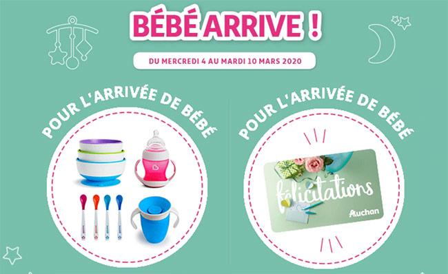 Tentez de remporter un kit d'accessoires bébé ou une carte cadeaux Auchan