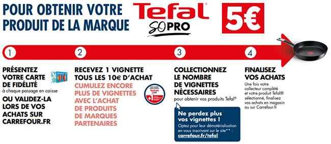 Collectionnez les vignettes Carrefour pour acquérir poêles et casseroles Tefal à 5€