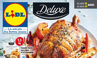 Catalogue Lidl « Deluxe » du 18 au 24 mars 2020
