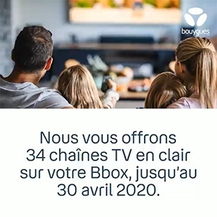 Visionnez 34 chaînes supplémentaires avec votre box TV Bouygues