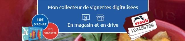 collecteur digitalisé sur Carrefour.fr/staub