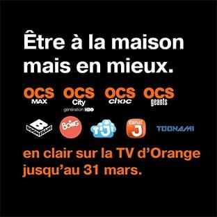 Bon plan Orange : OCS et chaînes jeunesse gratuites
