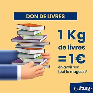 Bon plan Cultura : Rapportez vos vieux livres et obtenez un avoir