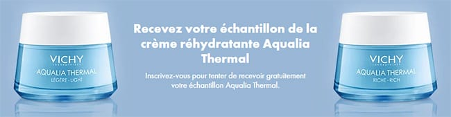 Tentez de remporter l'un des 15'000 échantillons de crème Aqualia Thermal