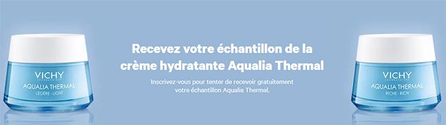 Tentez de remporter l'un des 10'000 échantillons de crème riche Aqualia Thermal