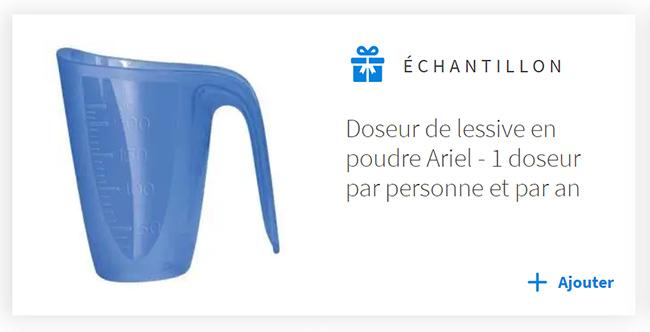Recevez gratuitement votre doseur de lessive Ariel avec Envie de Plus